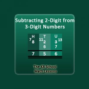 2-digit subtraction with borrowing method