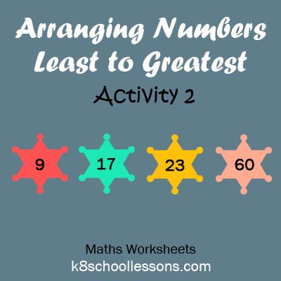 Arranging Numbers Least to Greatest Activity 2