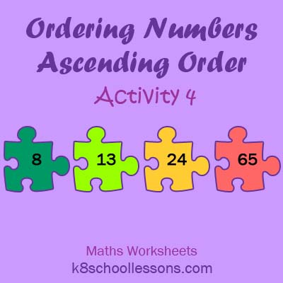 Ordering Numbers Ascending Order Activity 4