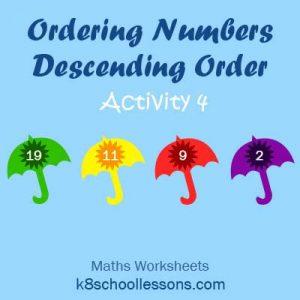 Ordering Numbers Descending Order Activity 4 Ordering Numbers Descending Order Activity 4
