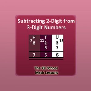 Subtracting 2-digit numbers from 3-digit numbers borrowing method Subtracting 2-digit numbers from 3-digit numbers borrowing method