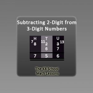Key Stage Two Subtraction 3-digit take away 2-digit with Regrouping