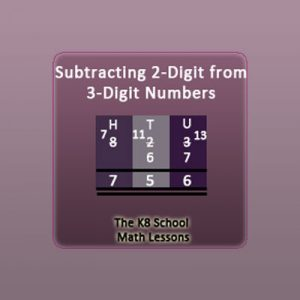 3-digit take away 2-digit with borrowing method 3-digit take away 2-digit with borrowing method