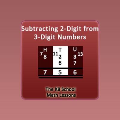 3-digit take away 2-digit with Regrouping 3-digit take away 2-digit with Regrouping