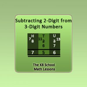 Key Stage Two 2-digit from 3-digit Subtraction with borrowing method