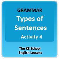 English Sentence Types Worksheets