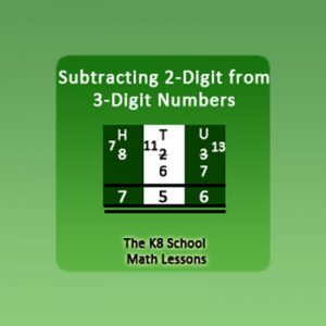 Key Stage Two Take away 2-digit from 3-digit with Regrouping