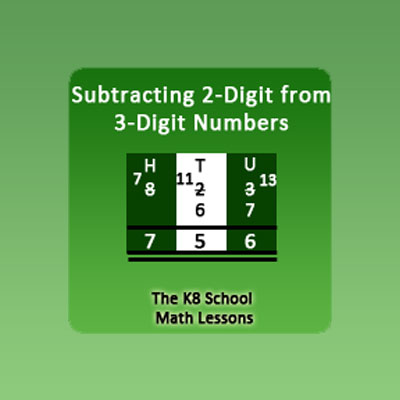 Take away 2-digit from 3-digit with Regrouping Take away 2-digit from 3-digit with Regrouping