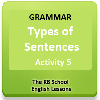 Similes Activity 17 Types of sentences Worksheets