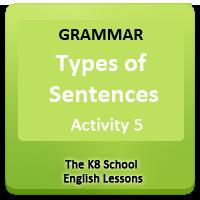 English Types of sentences Worksheets