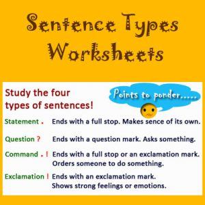 Key Stage Two Sentence Types Worksheets