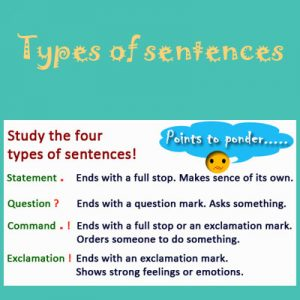 Types of sentences Types of sentences