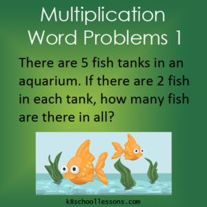 Multiplication Word Problems 1 Multiplication Word Problems 1