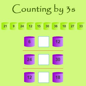Ordinal Numbers Quiz 4 Counting by 3s