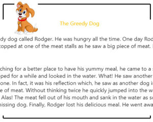 Comprehension Skills – The Greedy Dog Comprehension Skills – The Greedy Dog