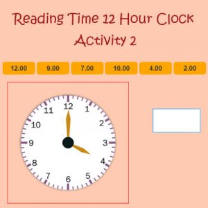 Reading Time 12 Hour Clock Activity 2 Reading Time 12 Hour Clock Activity 2
