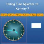 Telling Time Quarter To Activity 7 Telling Time Quarter To Activity 7