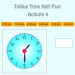 Telling Time Half Past Activity 4 Telling Time Half Past Activity 4