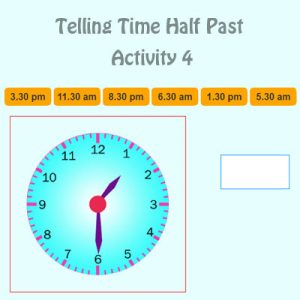Key Stage One Telling Time Half Past Activity 4
