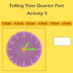 Telling Time Quarter Past Activity 5 Telling Time Quarter Past Activity 5