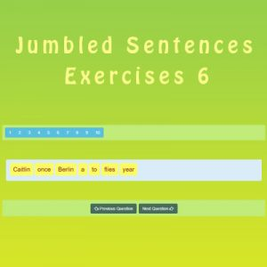 Key Stage Two Jumbled Sentences Exercises 6
