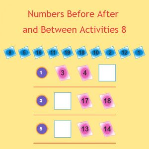 Numbers Before After and Between Activities 8