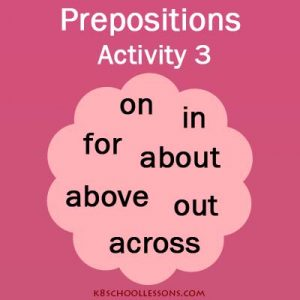 Prepositions – English Grammar – Activity 3 Prepositions – English Grammar – Activity 3
