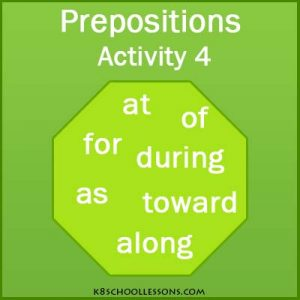 Prepositions English Grammar Activity 4 Prepositions English Grammar Activity 4