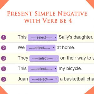 Key Stage One Present Simple Negative with Verb be 4