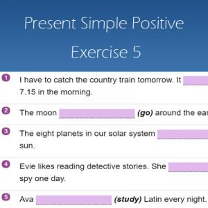 Present Simple Positive Exercise 5 Present Simple Positive Exercise 5
