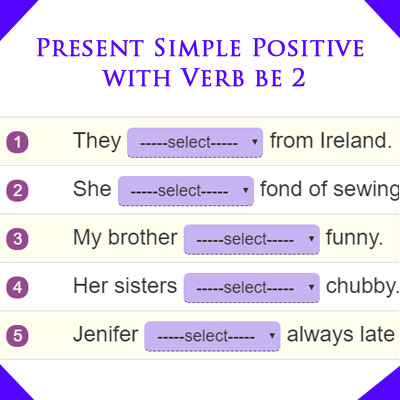 Present Simple Positive with Verb be 2