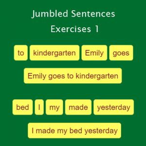 Jumbled Sentences Exercise 1 Jumbled Sentences Exercise 1