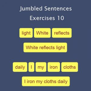 Key Stage Two Jumbled Sentences Exercises 10