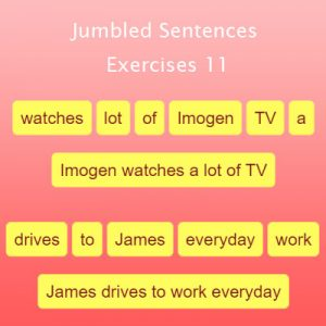 Key Stage Two Jumbled Sentences Exercises 11