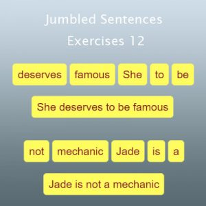 Key Stage Two Jumbled Sentences Exercises 12