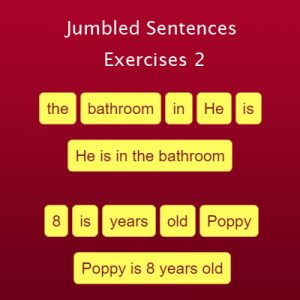 Key Stage Two Jumbled Sentences Exercises 2
