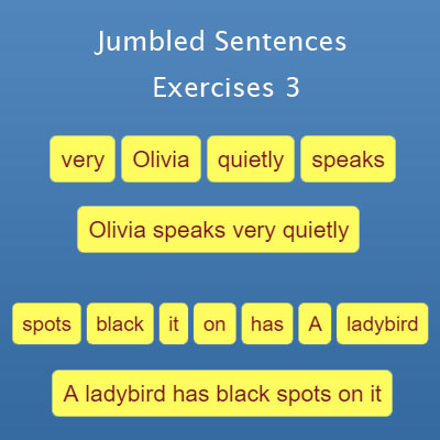 Jumbled Sentences Exercise 3 | English Grammar Exercises