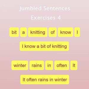 Jumbled Sentences Exercises 4 Jumbled Sentences Exercises 4