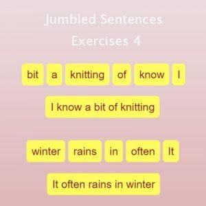 Jumbled Sentences Exercises 4