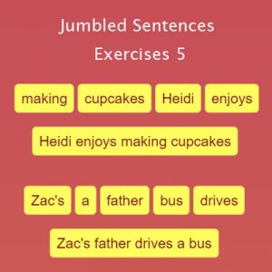 Key Stage Two Jumbled Sentences Exercises 5