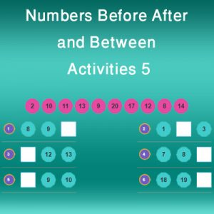 Numbers Before After and Between Activities 5 Numbers Before After and Between Activities 5