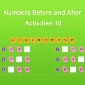 Matching Rhyming Words Activity 9 Numbers Before and After Activities 10