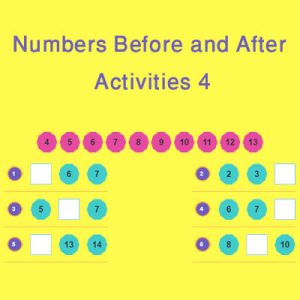 Matching Rhyming Words Activity 9 Numbers Before and After Activities 4