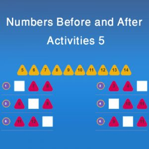 Numbers Before and After Activities 5 Numbers Before and After Activities 5