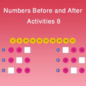 Numbers Before and After Activities 8