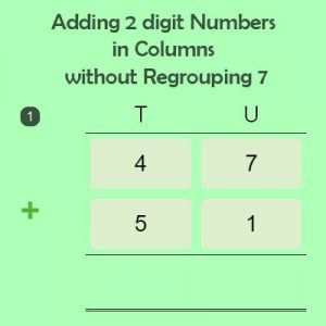 Adding 2 digit Numbers in Columns without Regrouping 7 Adding 2 digit Numbers in Columns without Regrouping 7