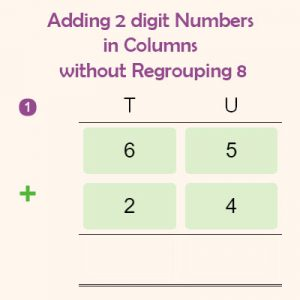 Adding 2 digit Numbers in Columns without Regrouping 8 Adding 2 digit Numbers in Columns without Regrouping 8