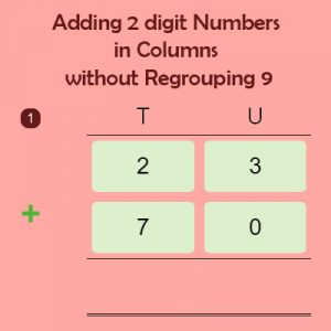 Adding 2 digit Numbers in Columns without Regrouping 9 Adding 2 digit Numbers in Columns without Regrouping 9