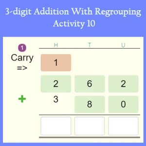 3-digit Addition With Regrouping Activity 10