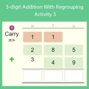 3-digit Addition With Regrouping Activity 3